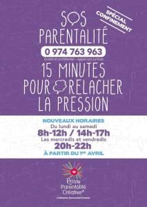 SOS Parentalité nouveaux horaires